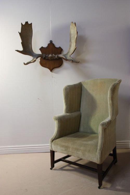 georgian antique wing chair - Georgian Antique Wing Chair 79650 Sellingantiques.co.uk