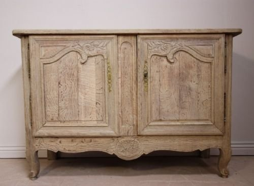 18th century french bleached oak buffet