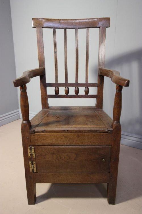 18th Century Antique Oak Commode Chair 89351 Sellingantiques Co Uk