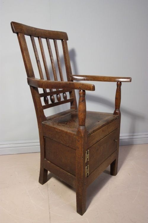 page load time 0.49 seconds - 18th Century Antique Oak Commode Chair 89351 Sellingantiques.co.uk