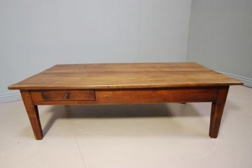 Merveilleux French Antique Cherry Wood Coffee Table