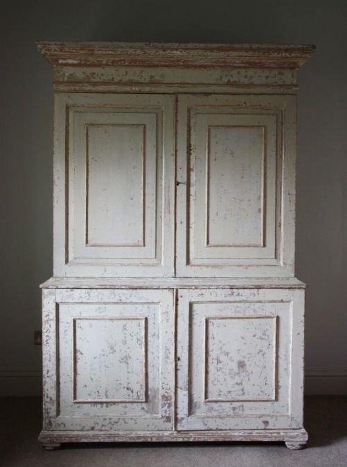 superb regency antique linen press cupboard - Superb Regency Antique Linen Press Cupboard 94761