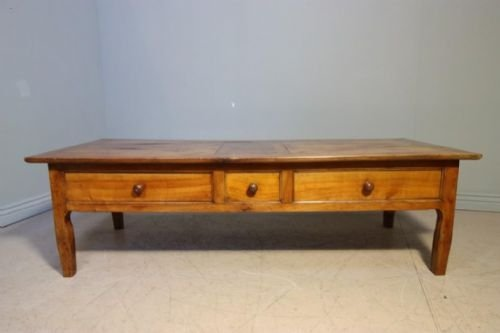 French Antique Fruitwood Coffee Table 100743