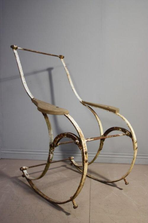 Regency Antique Iron Winfield Rocking Chair