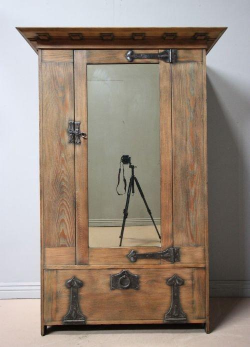 rare antique oak wardrobe by heals