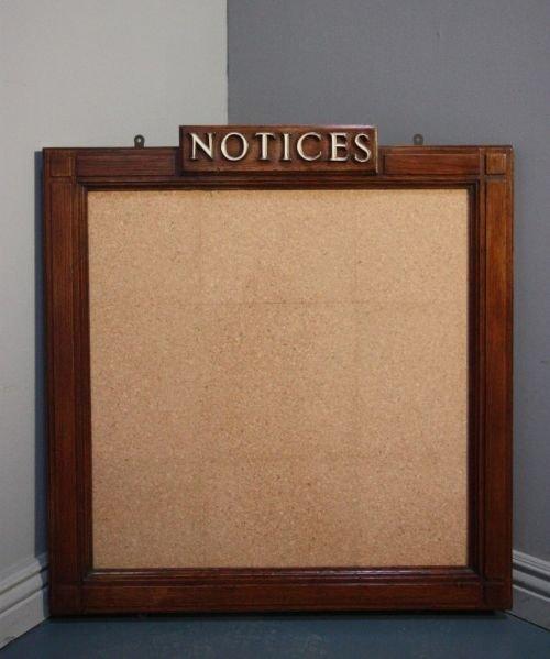 1920\'s Art Deco Oak Framed \'notice\' Board. | 161523 ...