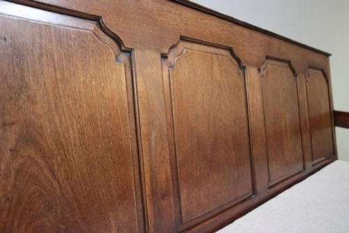 18th century antique walnut coachmans settle - photo angle #4
