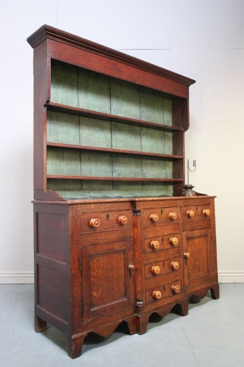 impressive caernarfonshire antique oak dresser - photo angle #2