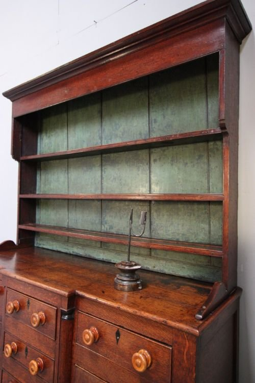 impressive caernarfonshire antique oak dresser - photo angle #3