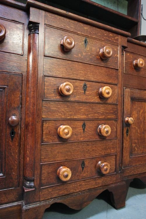 impressive caernarfonshire antique oak dresser - photo angle #5