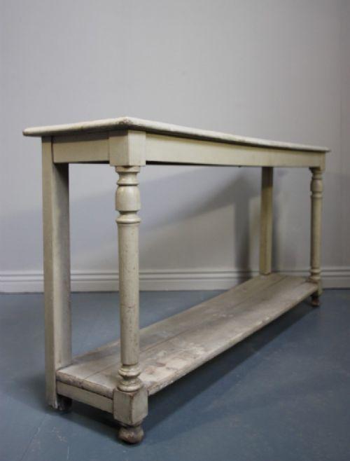 French Antique Painted Oak Console Table 182444 Sellingantiques