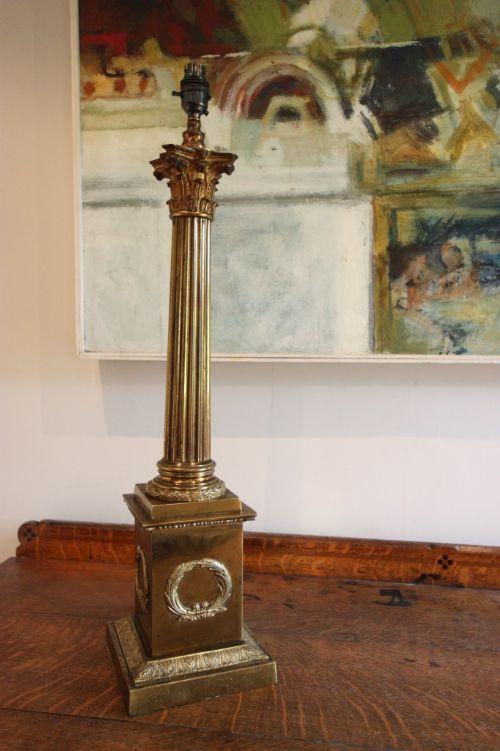 Large english antique corinthian column table lamp 184137 large english antique corinthian column table lamp aloadofball Images