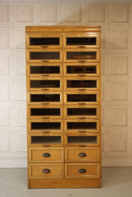 H.ziman Ltd Antique Oak Haberdashery Cabinet | 220135 ...