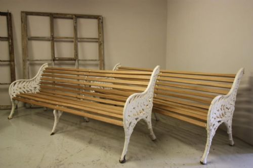 English Antique Cast Iron Garden Bench.  Available.
