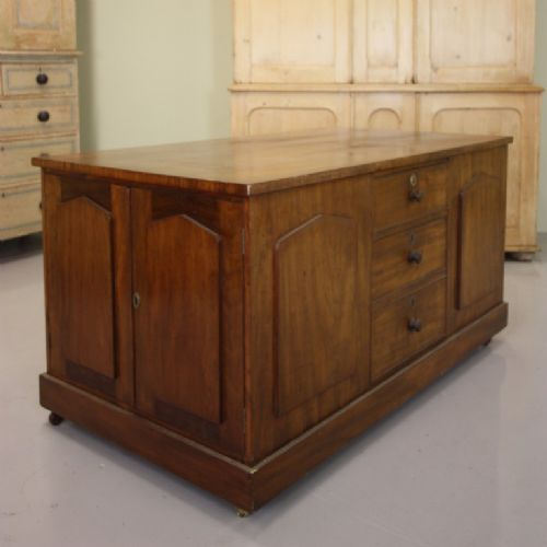 unusual antique mahogany dressing central island