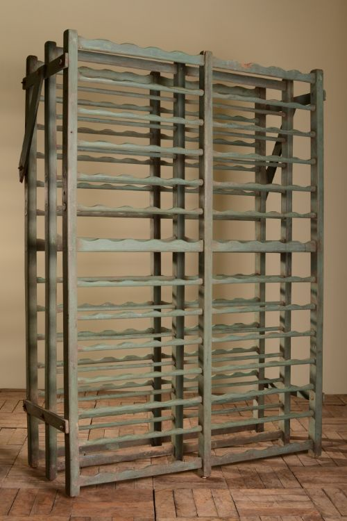 Large Original Painted Antique Wooden Wine Rack 261853 - Antique Wooden Wine Rack Easy To Design The House