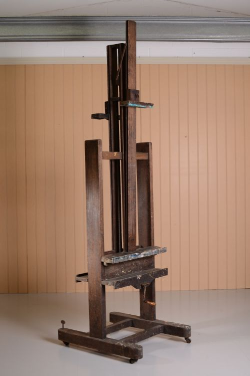 Unusual Double Sided Antique Oak Artist S Easel 298721