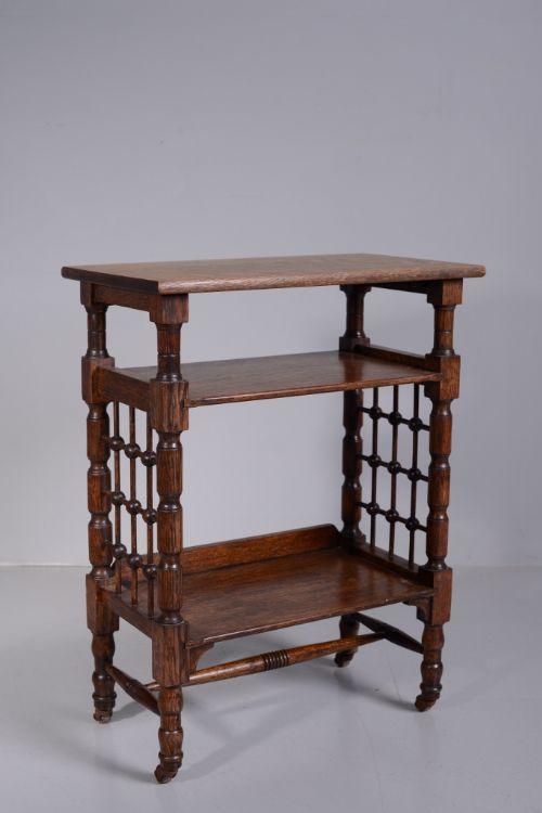 Antique Oak Libertys Bookcase  Bedside Table.