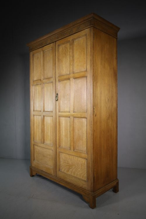 1920's waring gillow oak wardrobe