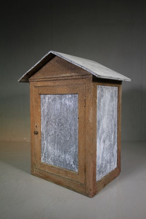 large original painted pine antique food safe