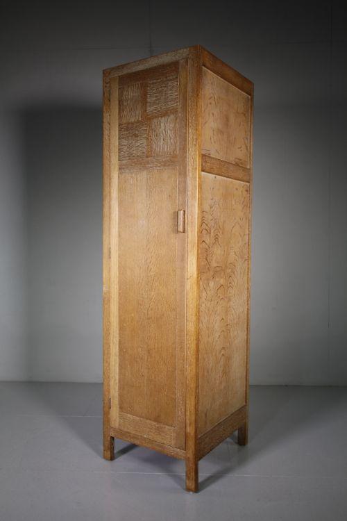 heals 1920's oak single door oak wardrobe