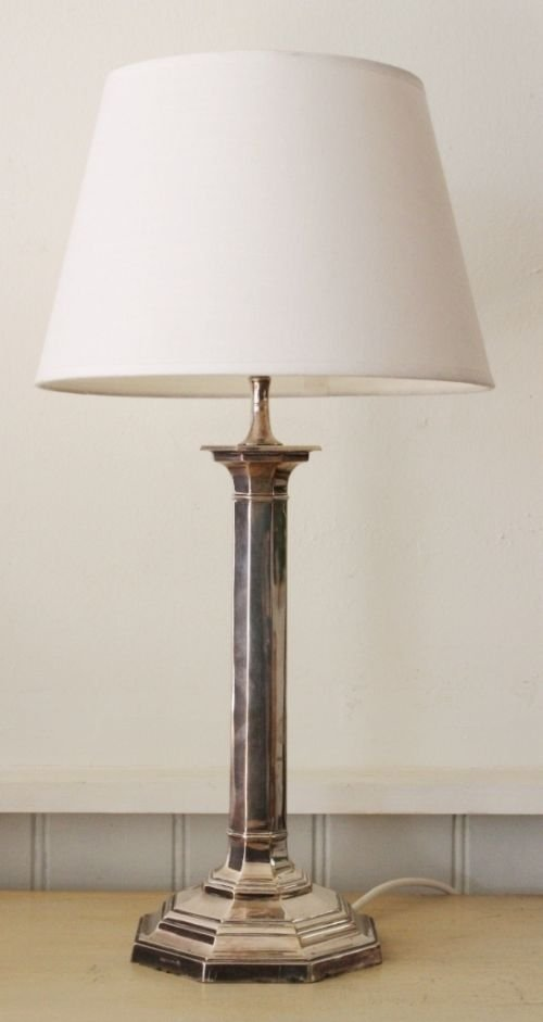 Edwarian antique silver plate table lamp 47205 sellingantiques edwarian antique silver plate table lamp aloadofball Images