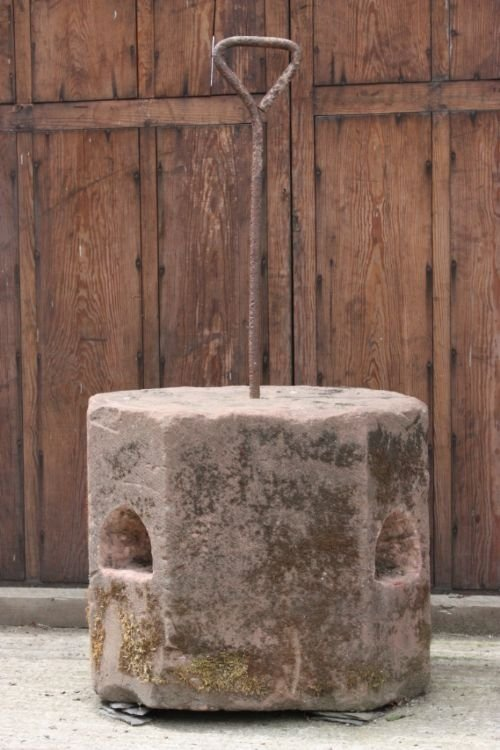 antique sandstone horse mounting block