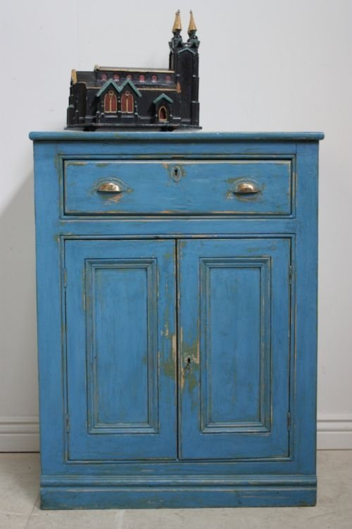 painting kitchen cabinet antique cupboard in blue paint 52340 1395