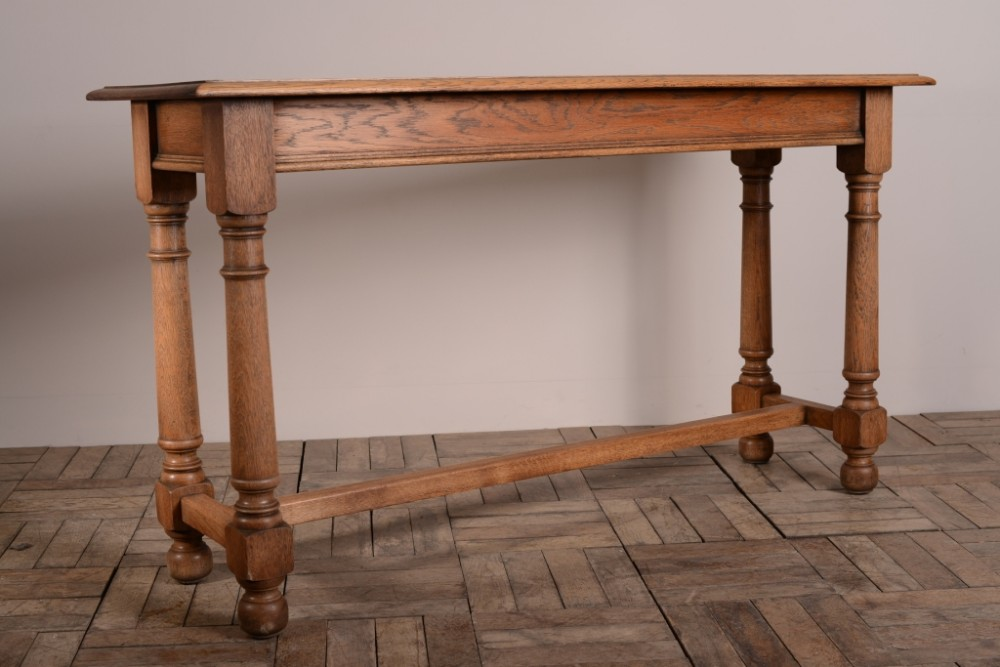 Antique Oak Side Table By Waring Gillows