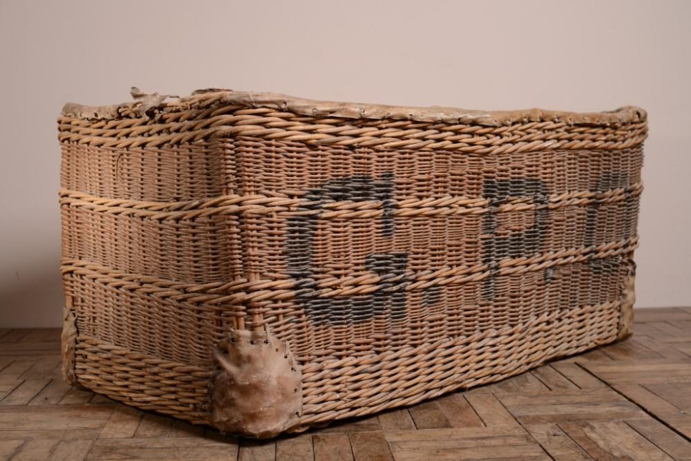 huge edwardian antique postal wicker basket & Huge Edwardian Antique Postal Wicker Basket   305792 ...