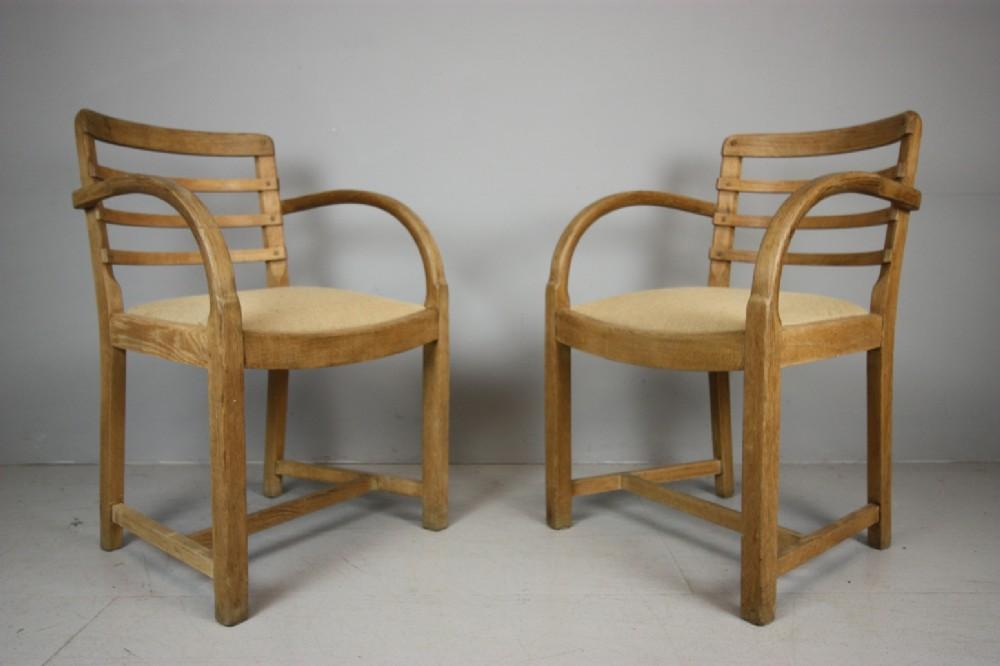 Pair Of 1930's Heals Oak Armchairs. | 382305 ...