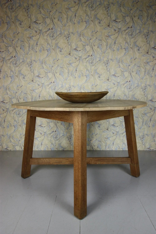 Large Heals Antique Oak Circular Dining Table 390916