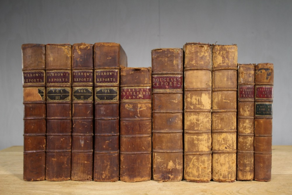 Collection Of Ten Georgian Antique Law Books  | 455856