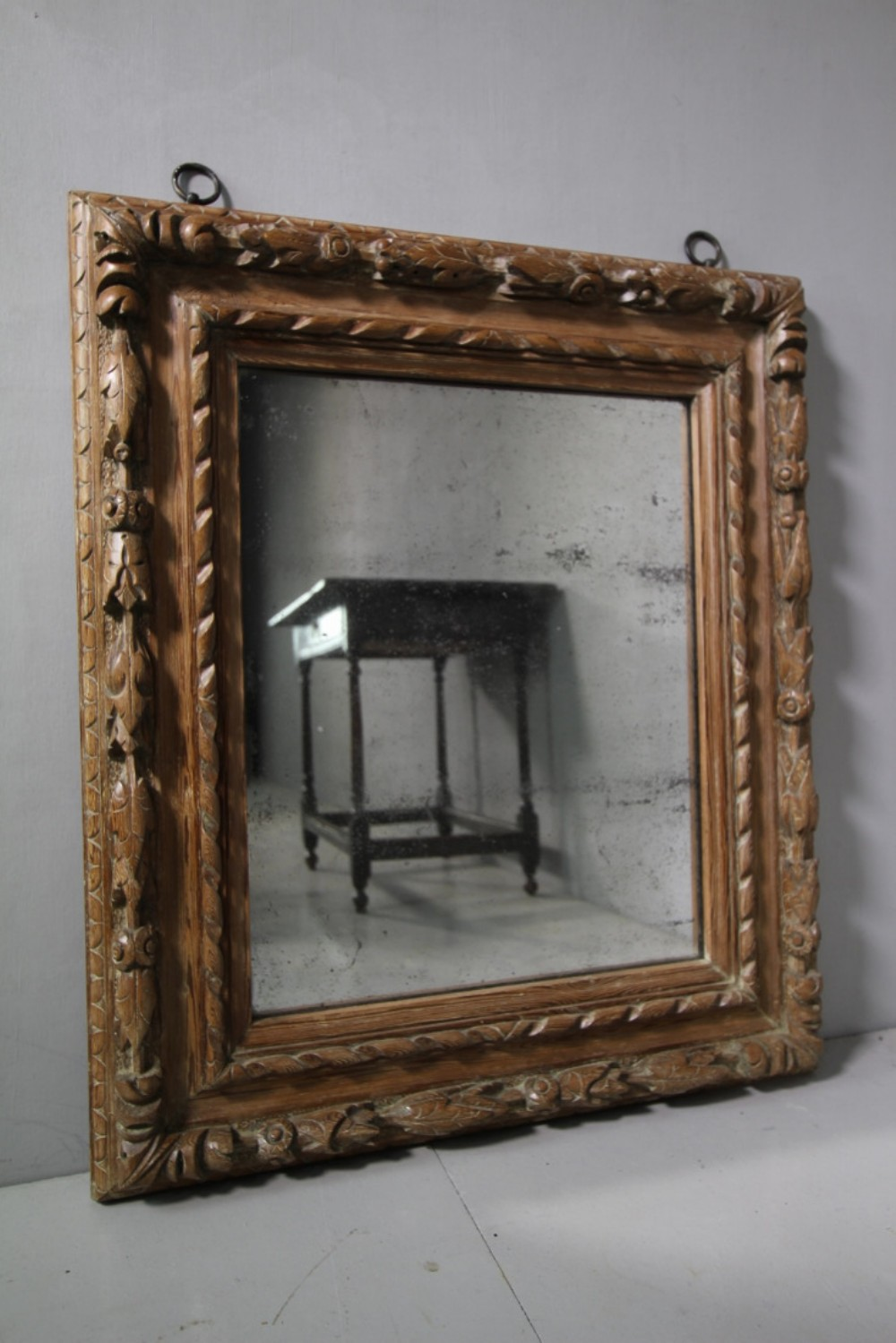 775eb8183624 Fabulous Georgian Antique Carved Pine Mirror.