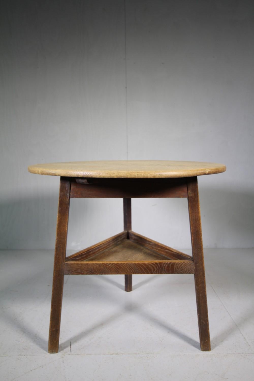 heals antique oak cricket table labelled