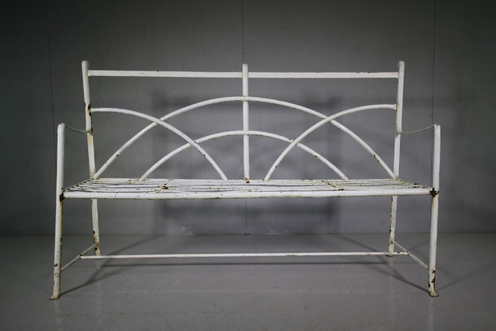 Awesome English 19Th Century Antique Iron Garden Bench Seat 556062 Caraccident5 Cool Chair Designs And Ideas Caraccident5Info