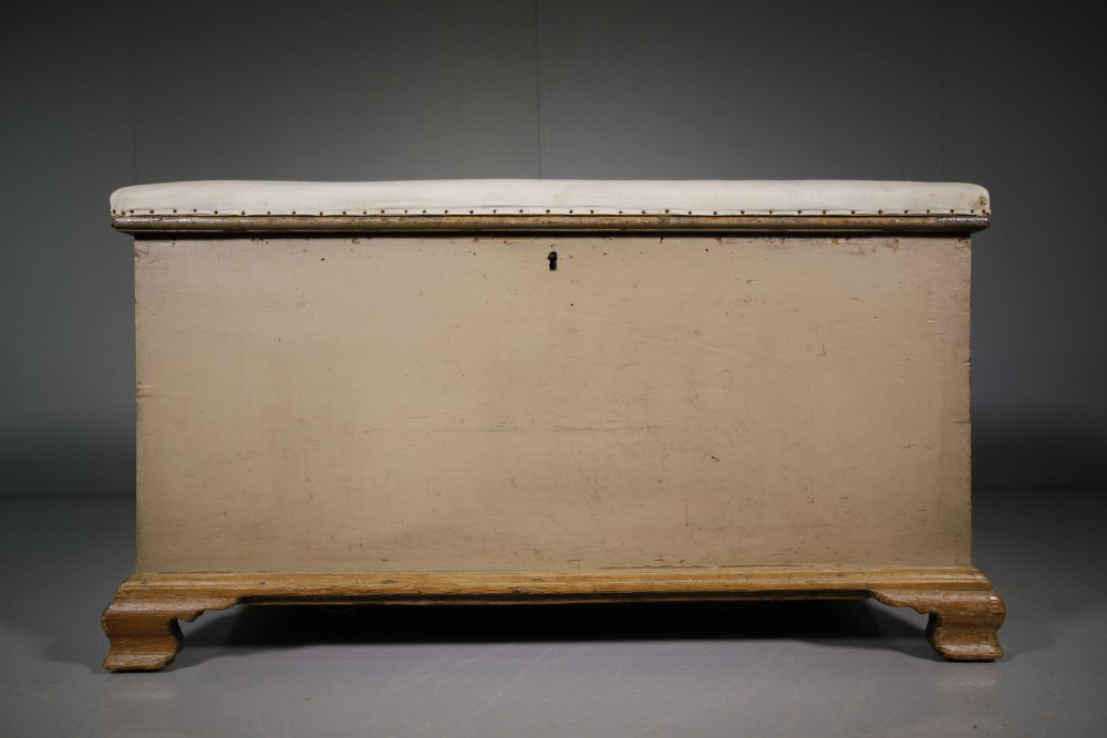 georgian antique original painted pine bedding box