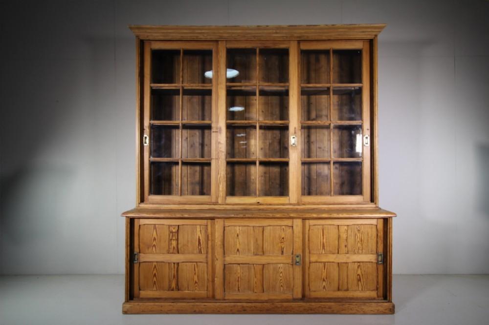 fabulous large english antique pine kitchen cupboard