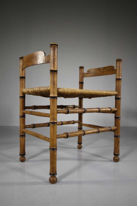 english edwardian simulated bamboo antique stool