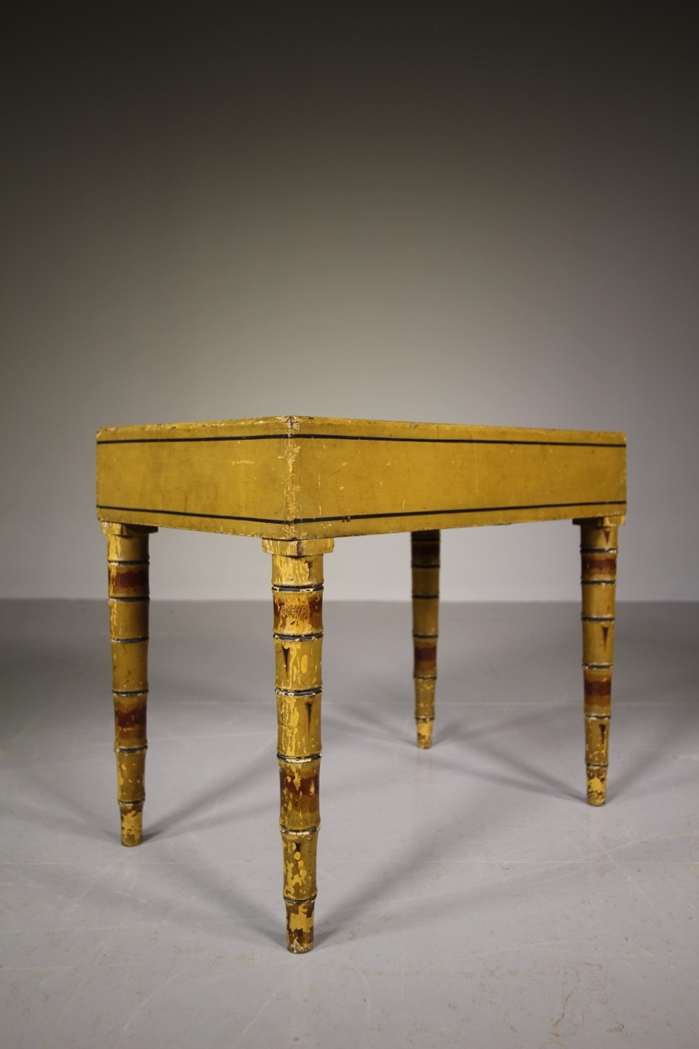 regency original painted pine antique side table