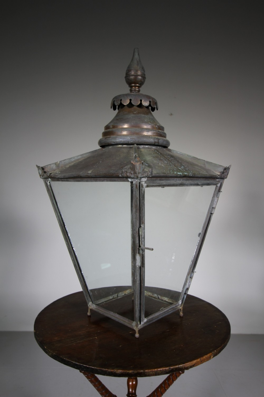 english 19th century antique copper lantern