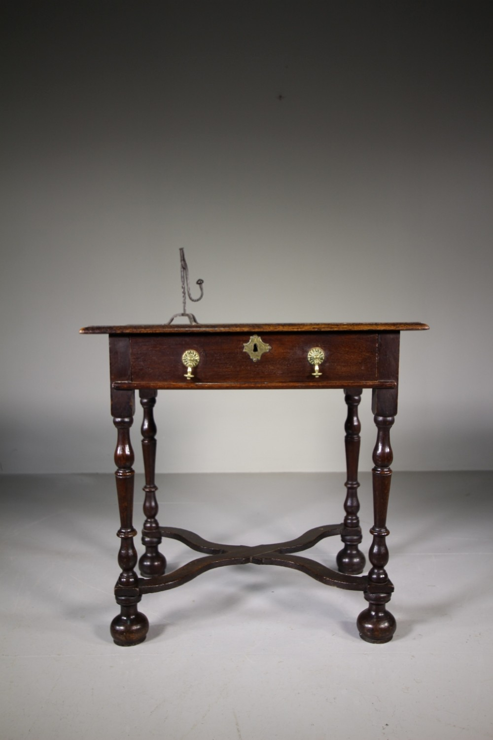 late 17th century antique period oak side table