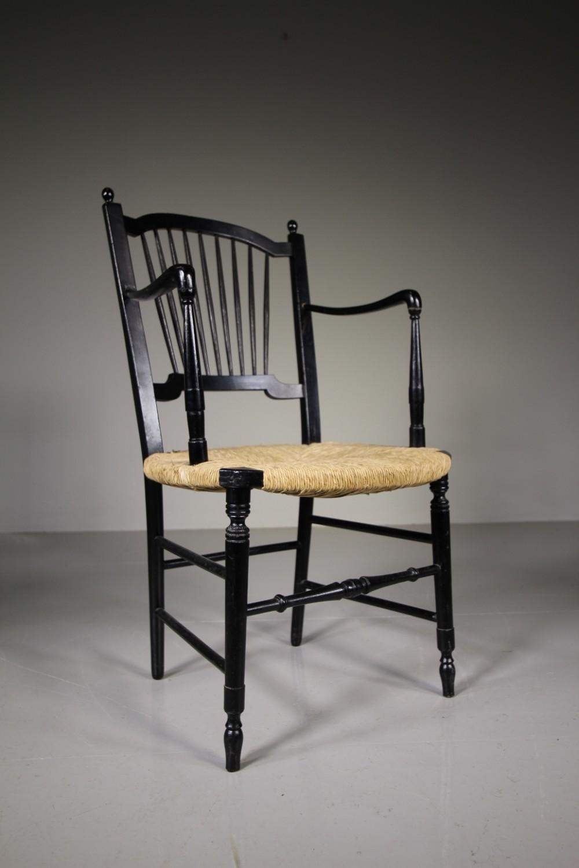 19th century antique morris rossetti armchair