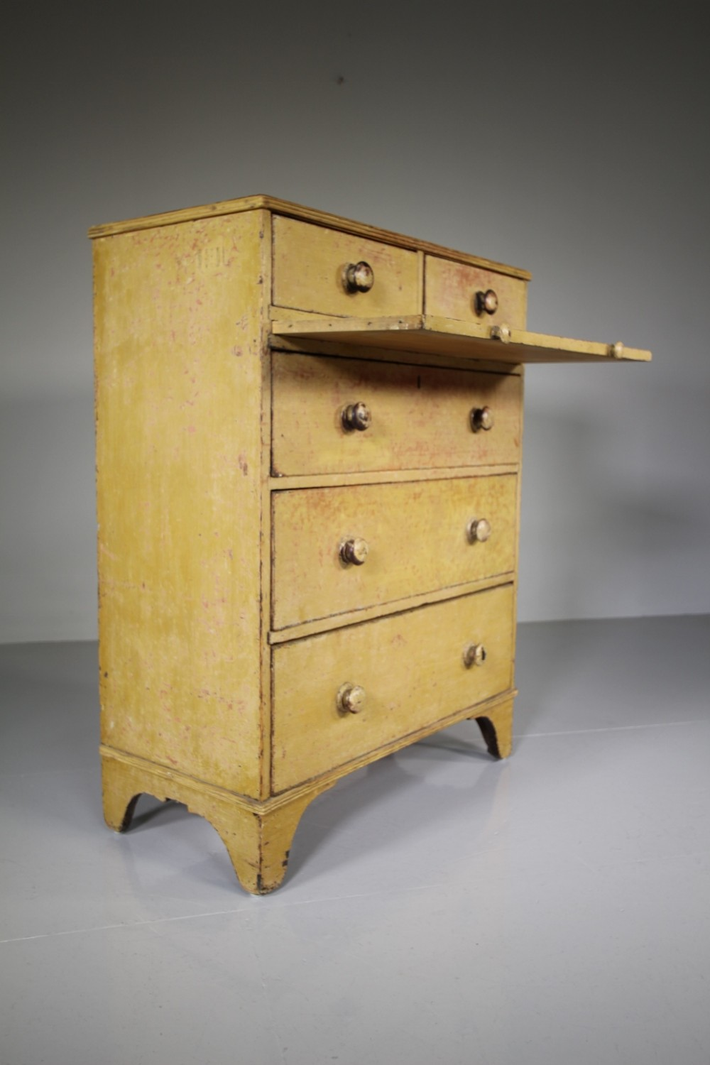 english regency antique original painted pine chest of drawers