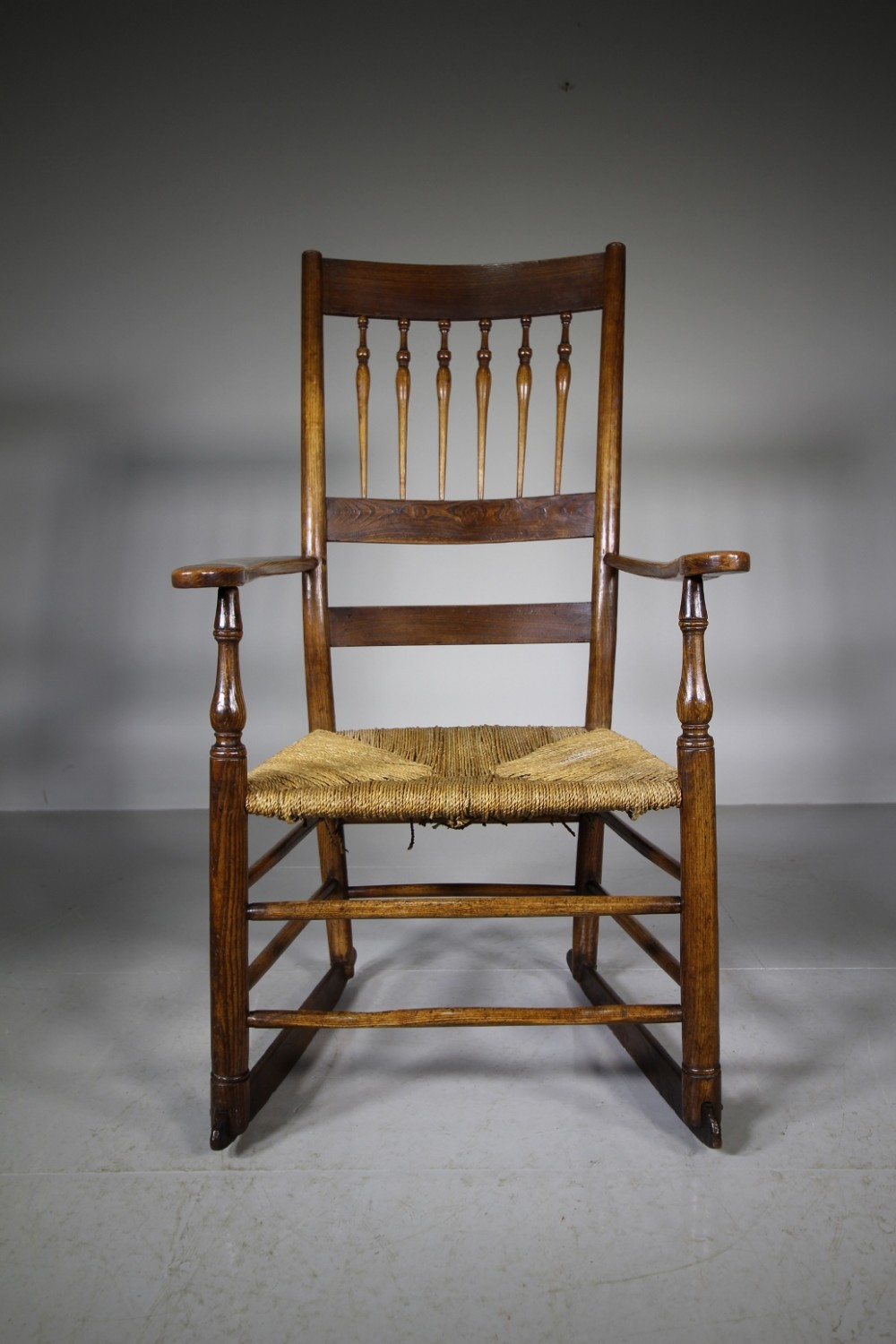 herefordshire antique spindle back armchair very clissett