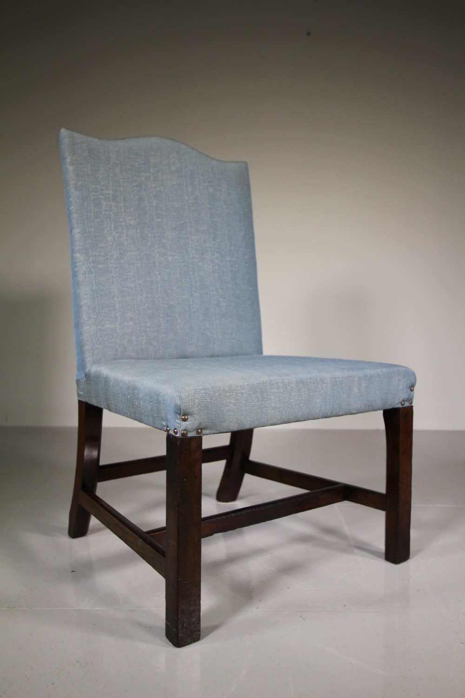 18th century antique mahogany gainsborough chair