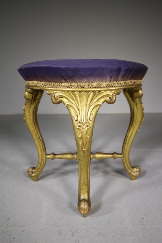 19th century antique original gilt stool
