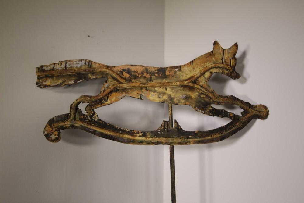large english 19th century antique fleeing fox weathervane