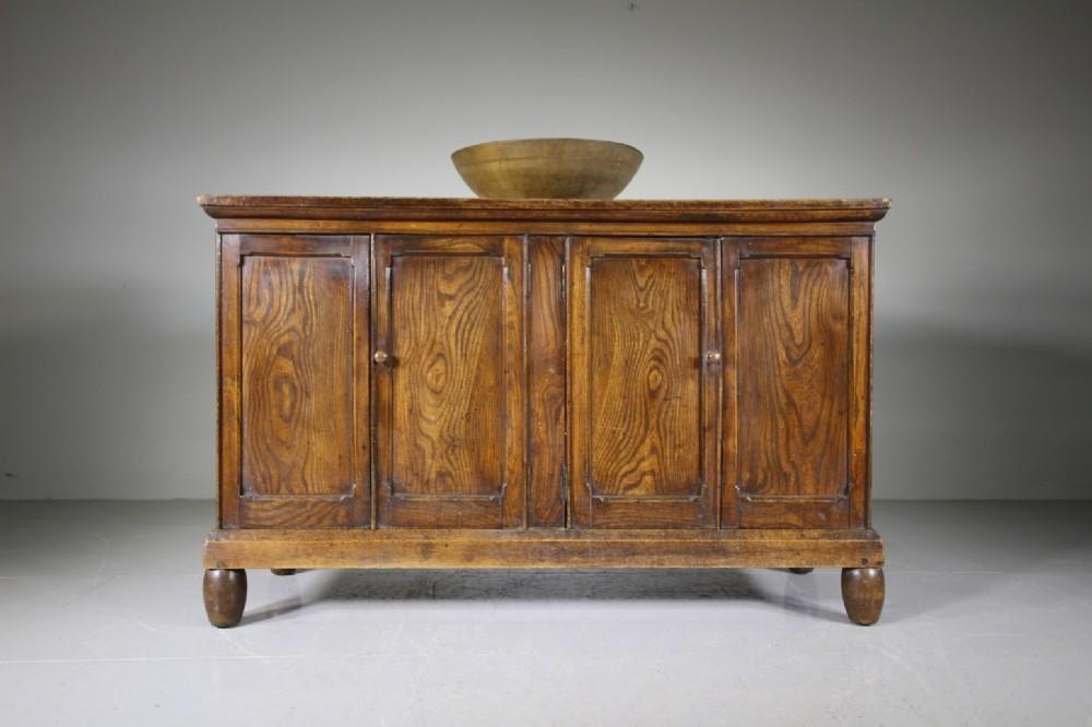 beautiful english 19th century antique elm four door cupboard