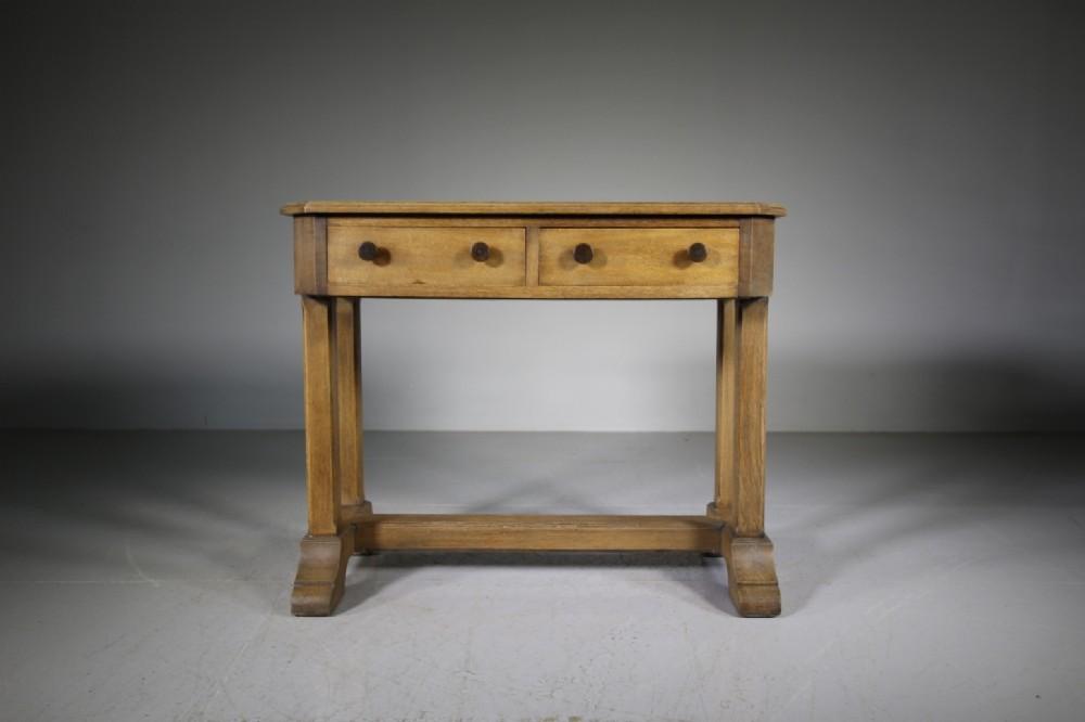 1920s heals oak oxford college desk labelled